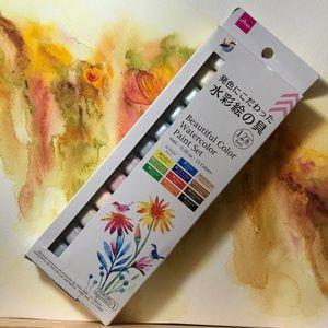 Beautiful Watercolor Paint Set 12 colors 6 ml